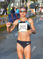 PORT ELIZABETH, SOUTH AFRICA - JULY 30: Irvette van Zyl of AGN during the SA Half Marathon Championships on July 30, 2016 in Port Elizabeth, South Africa. (Photo by Roger Sedres/Gallo Images)