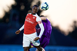 LONDON, ENGLAND - Friday, August 17, 2018: Arsenal's Eddie Nketiah during the Under-23 FA Premier League 2 Division 1 match between Arsenal FC and Liverpool FC at Meadow Park. (Pic by David Rawcliffe/Propaganda)