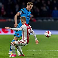 AMSTERDAM - 05-04-2017, Ajax - AZ, Stadion Arena, Ajax speler Daley Sinkgraven, AZ speler Rens van Eijden