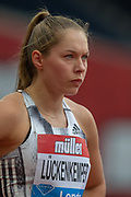 Gina Luckenkemper of Germany, Women's 100m Heat 1, during the Muller Anniversary Games 2019 at the London Stadium, London, England on 21 July 2019.