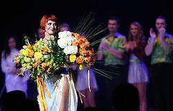 """Katarina Venturini at the """"goodbye"""" event of Slovenian professional sports dance couple Andrej Skufca and Katarina Venturini, named Infinity is Eternity (Neskoncnost je vecnost), on March 2, 2008, in Cankarjev dom, Ljubljana, Slovenia.  (Photo by Vid Ponikvar / Sportal Images)/ Sportida)"""