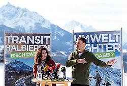 "25.01.2018, Grünwalderhof, Patsch, AUT, Tirol-Landtagswahl: Wahlkampfauftakt der Tiroler Grünen, ""Bist du dabei, der grüne Start in den Landtagswahlkampf"", im Bild Ingrid Felipe (Landeshauptfrau Stv.), Gebi Mair (Clubobmann die Grünen Tirol) // during the election campaign of the Tyrolean greens party Tyrol at the Grünwalderhof in Patsch, Austria on 2018/01/25. EXPA Pictures © 2018, PhotoCredit: EXPA/ Johann Groder"