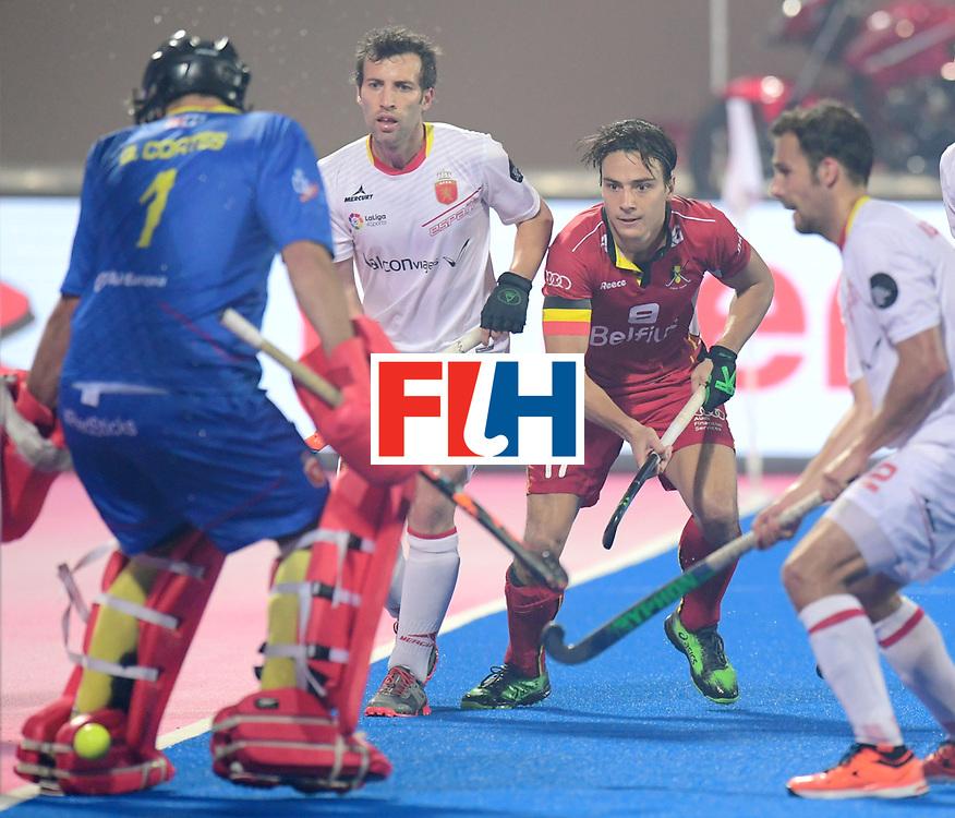 Odisha Men's Hockey World League Final Bhubaneswar 2017<br /> Match id:07<br /> Belgium v Spain<br /> Foto: Thomas Briels (Bel) scored a goal that is canceld<br /> WORLDSPORTPICS COPYRIGHT FRANK UIJLENBROEK