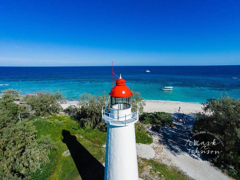 Aerial photograph of Lady Elliot Island Lighthouse, Lady Elliot Island, Great Barrier Reef, Queensland, Australia