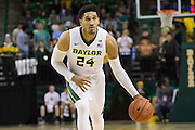 WACO, TX - JANUARY 5: Ishmail Wainright #24 of the Baylor Bears brings the ball up court against the Oklahoma State Cowboys on January 5, 2016 at the Ferrell Center in Waco, Texas.  (Photo by Cooper Neill/Getty Images) *** Local Caption *** Ishmail Wainright