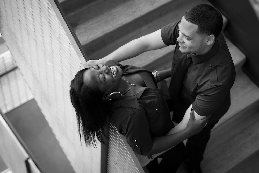 Tamara Robinson and P.Sterling Rowe engagement session in Denver, Thursday, May 19, 2011. Photo by Justin Edmonds