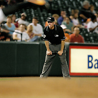 25 September 2007:  Umpire Lance Barksdale in action during the game between the Toronto Blue Jays and the Baltimore Orioles.  The Blue Jays defeated the Orioles 11-4 at Camden Yards in Baltimore, MD.  ****For Editorial Use Only****