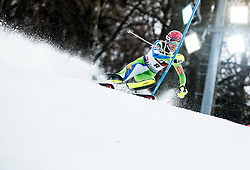 "Ana Bucik (SLO) competes during 1st Run of FIS Alpine Ski World Cup 2017/18 Ladies' Slalom race named ""Snow Queen Trophy 2018"", on January 3, 2018 in Course Crveni Spust at Sljeme hill, Zagreb, Croatia. Photo by Vid Ponikvar / Sportida"