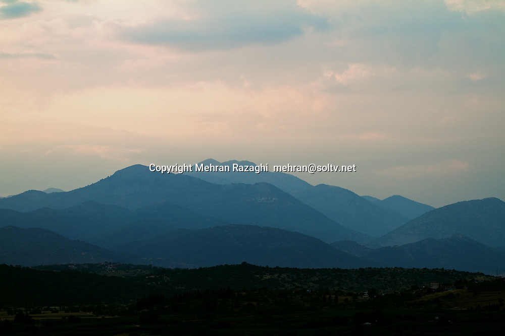 Sunset in various locations in Greece, Part I