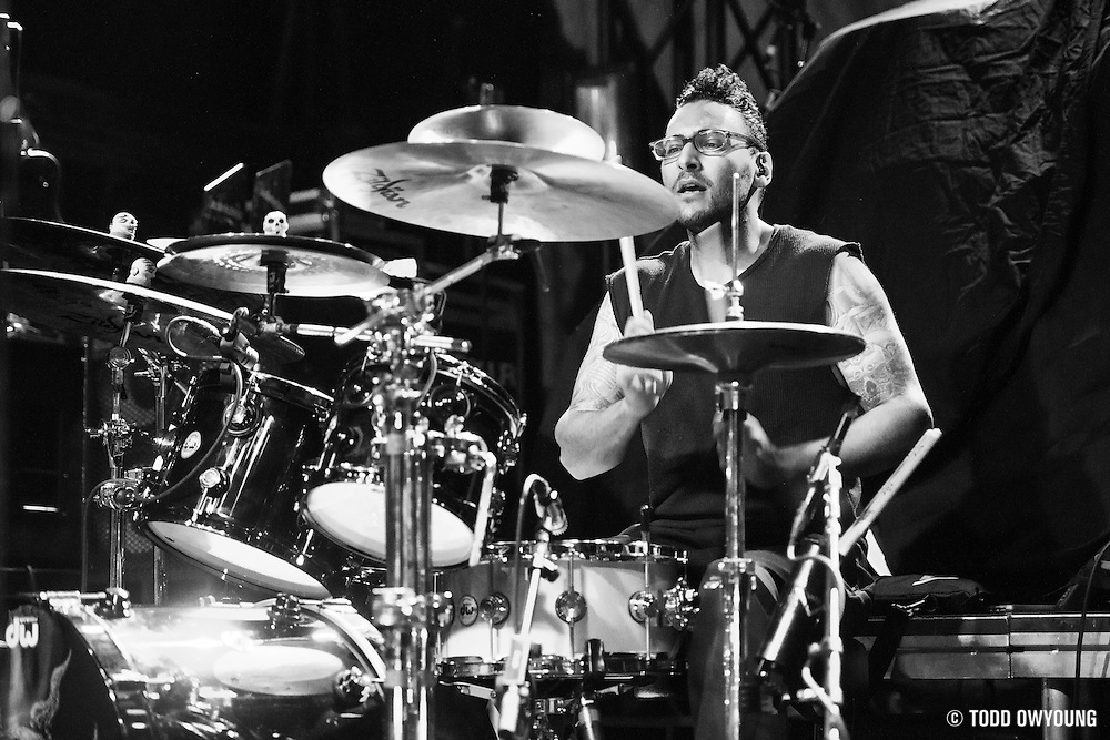 Stone Sour performing at Irving Plaza in New York City on January 18, 2014.