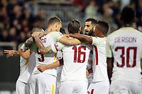 Esultanza gol Cengiz Under Roma Goal celebration <br /> Cagliari 06-05-2018 Sardegna Arena <br /> Football Calcio Serie A Cagliari - Roma Foto Gino Mancini / Insidefoto