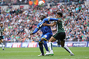 AFC Wimbledon striker Adebayo Akinfenwa (10) during the Sky Bet League 2 play off final match between AFC Wimbledon and Plymouth Argyle at Wembley Stadium, London, England on 30 May 2016.