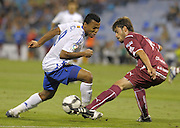 Nigerian international Uche (left) challenges Ezequiel Luna (right). Real Zaragoza v Tenerife 1-0 in La Romareda the first game of the 2009/2010 LA LIGA season, 29th August 2009