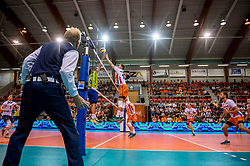 20-05-2018 NED: Netherlands - Slovenia, Doetinchem<br /> First match Golden European League / Robbert Andringa #18 of Netherlands, Wouter ter Maat #16 of Netherlands, Gijs Jorna #7 of Netherlands