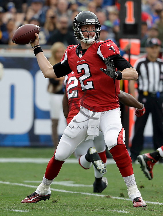 Atlanta Falcons quarterback Matt Ryan throws against the Los Angeles Rams during the first half of an NFL football game Sunday, Dec. 11, 2016, in Los Angeles. (AP Photo/Rick Scuteri)