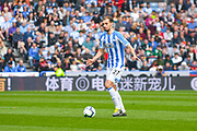 Jon Gorenc Stankovic of Huddersfield Town (27) in action during the Premier League match between Huddersfield Town and Leicester City at the John Smiths Stadium, Huddersfield, England on 6 April 2019.