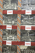 Pictures of past scout troops that camped at Ockanickon were displayed during Ockanickon Scout Reservation's 75th anniversary celebration Saturday, June 18, 2016 in Pipersville, Pennsylvania.   (Photo by William Thomas Cain)