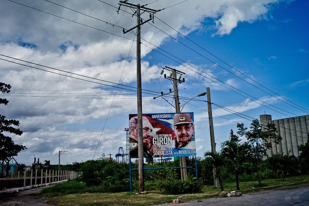 A poster in Bahia de la Havana in Cuba. October 30, 2012. Photo/Tomas Munita