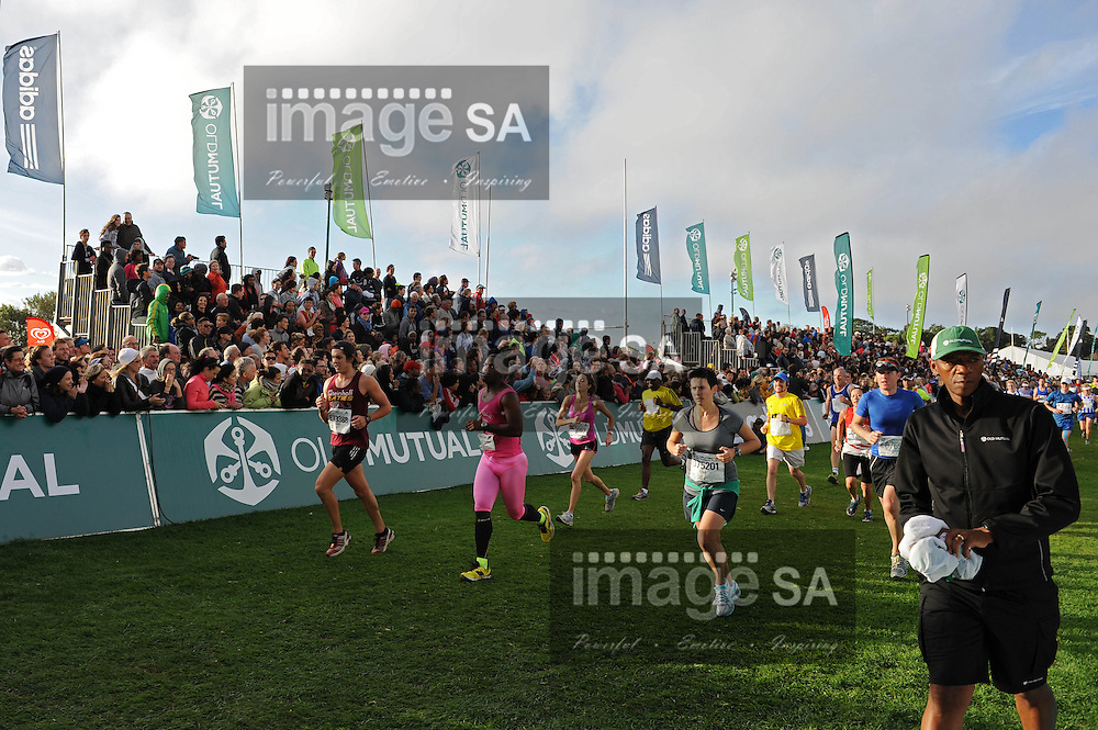 CAPE TOWN, South Africa - Saturday 30 March 2013, The finish line during the half marathon of the Old Mutual Two Oceans Marathon. .Photo by Roger Sedres/ ImageSA