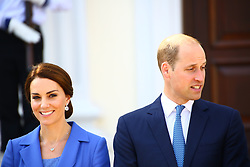 July 19, 2017 - Berlin, Germany - Prince William, Duke of Cambridge and Catherine, Duchess of Cambridge was received by President Frank-Walter Steinmeier and First Lady Elke Büdenbender at Bellevue Palace. The royal couple met ahead with Mayor of Berlin Thomas Müller for visiting the Holocaust Memorial. (Credit Image: © Jakob Ratz/Pacific Press via ZUMA Wire)