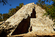 MEXICO, MAYAN, YUCATAN Coba; the Great Pyramid