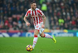 Marko Arnautovic of Stoke City - Mandatory by-line: Alex James/JMP - 11/02/2017 - FOOTBALL - Bet365 Stadium - Stoke-on-Trent, England - Stoke City v Crystal Palace - Premier League