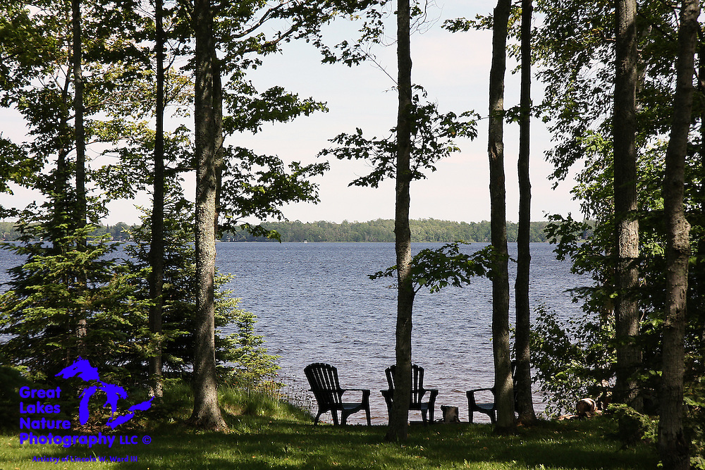 Neazor Point, on the western shore of South Manistique Lake, in Curtis, Michigan, provides this peaceful and unspoiled view of Upper Peninsula beauty.