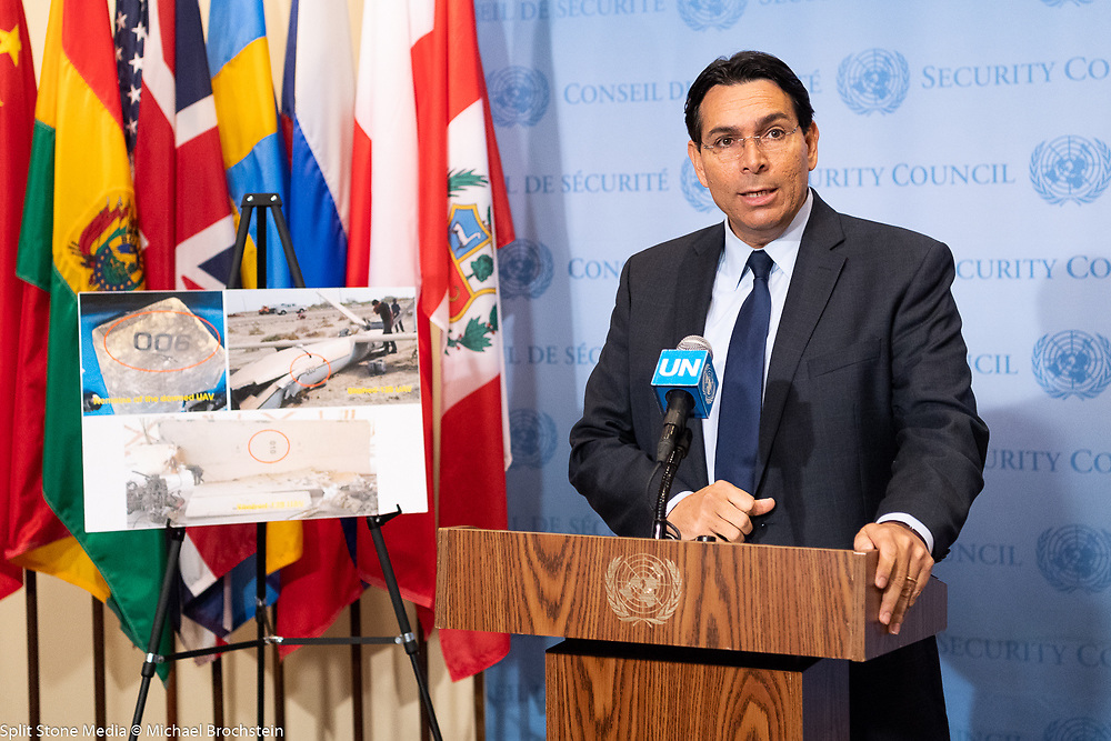 Ambassador Danny Danon, Permanent Representative of Israel to the United Nations, speaking at the United Nations in New York City on April 26, 2018