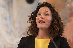 28.03.2018, Altes Landhaus, Innsbruck, AUT, konstituierende Sitzung, Tiroler Landtag, im Bild Landeshauptmann-Stellvertreterin Ingrid Felipe (GRÜNE) // during the inaugural session of the Tyrolean state parliament at the Altes Landhaus in Innsbruck, Austria on 2018/03/28. EXPA Pictures © 2018, PhotoCredit: EXPA/ Jakob Gruber