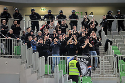 Tornado, fans of Zadar during basketball match between KK Cedevita Olimpija and KK Zadar in Round #19 of ABA League 2019/20, on February 8, 2020 in Arena Stozice, Ljubljana, Slovenia. Photo by Vid Ponikvar / Sportida
