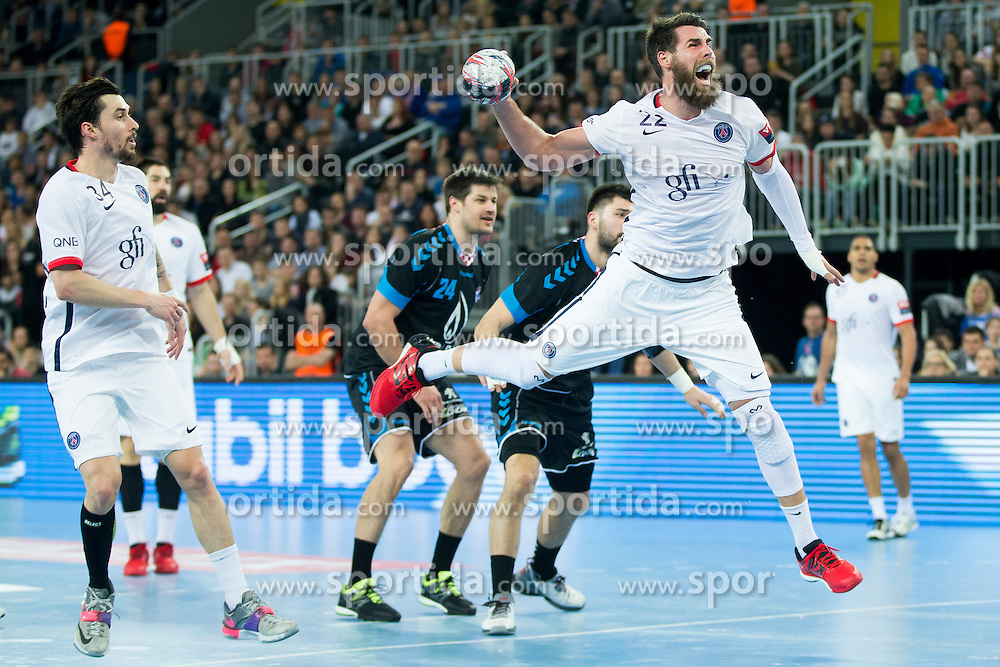 Luka Karabatic #22 of Paris Sant-Germain during handball match between PPD Zagreb (CRO) and Paris Saint-Germain (FRA) in 11th Round of Group Phase of EHF Champions League 2015/16, on February 10, 2016 in Arena Zagreb, Zagreb, Croatia. Photo by Urban Urbanc / Sportida
