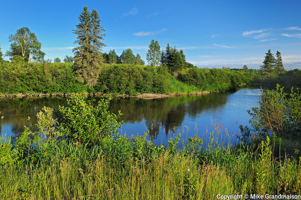 Scene along the Black River<br /> Ste Jeanne dArc<br /> Quebec<br /> Canada