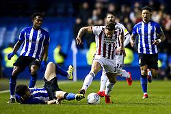 Billy Sharp of Sheffield United goes past Fernando Forestieri of Sheffield Wednesday - Mandatory by-line: Robbie Stephenson/JMP - 04/03/2019 - FOOTBALL - Hillsborough - Sheffield, England - Sheffield Wednesday v Sheffield United - Sky Bet Championship
