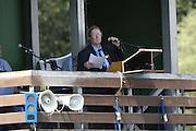 2006, U23 Rowing Championships,Hazewinkel, BELGIUM Saturday, 22.07.2006. Starter maggie PHILLIPS, Photo  Peter Spurrier/Intersport Images email images@intersport-images.com..[Mandatory Credit Peter Spurrier/ Intersport Images] Rowing Course, Bloso, Hazewinkel. BELGUIM