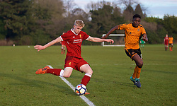 WOLVERHAMPTON, ENGLAND - Tuesday, December 19, 2017: Liverpool's Luis Longstaff during an Under-18 FA Premier League match between Wolverhampton Wanderers and Liverpool FC at the Sir Jack Hayward Training Ground. (Pic by David Rawcliffe/Propaganda)