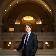 March 3, 2014 - New York, NY : Thomas Campbell, director of the Metropolitan Museum of Art, poses for a portrait on the balcony in the great hall at the museum on Monday morning. CREDIT: Karsten Moran for The New York Times