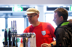 England fans gather in the Sports Bar and Grill at Ashton Gate - Mandatory by-line: Robbie Stephenson/JMP - 11/06/2016 - FOOTBALL - Ashton Gate - Bristol, United Kingdom  - England vs Russia - UEFA Euro 2016