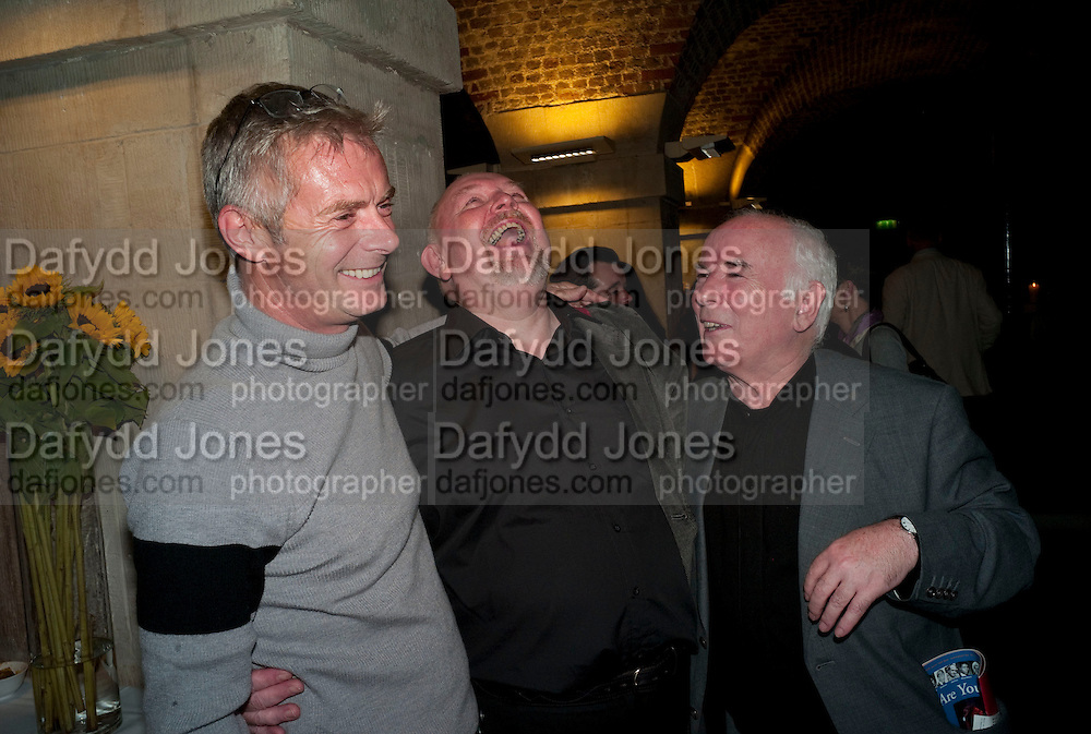 Stephen Daldry; Mark Dornford-May; Noel Pearson, The opening night of The Mysteries Ð Yiimimangaliso at the Garrick Theatre. Aftershow party in The Crypt, St Martin-in-the-Fields, Trafalgar Square, London. 15 September 2009.<br /> Stephen Daldry; Mark Dornford-May; Noel Pearson, The opening night of The Mysteries ? Yiimimangaliso at the Garrick Theatre. Aftershow party in The Crypt, St Martin-in-the-Fields, Trafalgar Square, London. 15 September 2009.