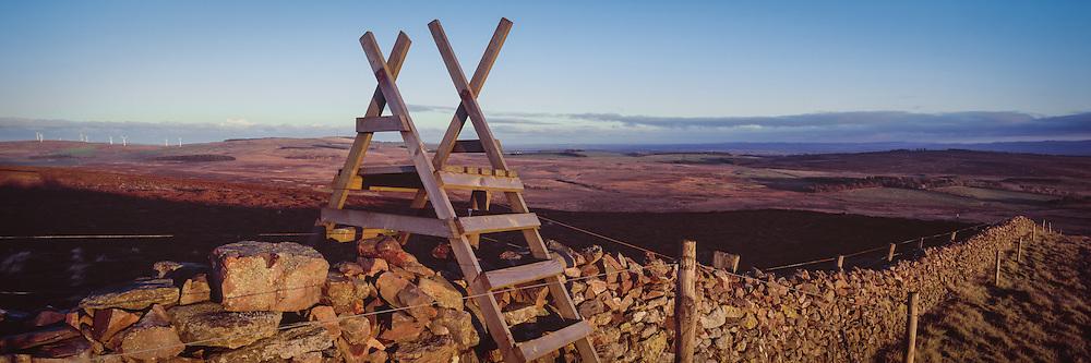 View on Dirrington Little Law overlooking the Lammeruirs in Berwickshire, Scottish Borders