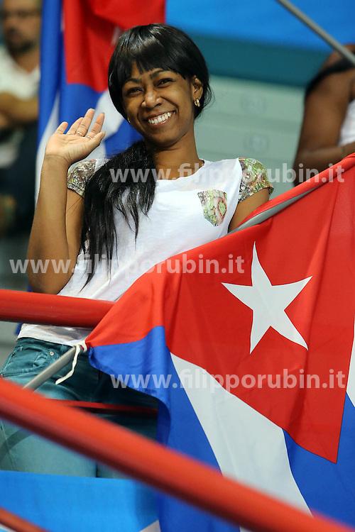 A cuban fan waves