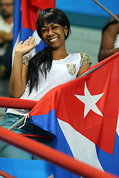 A cuban fan waves