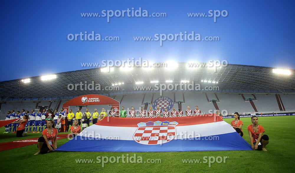 12.06.2015, Stadion Poljud, Split, CRO, UEFA Euro 2016 Qualifikation, Kroatien vs Italien, Gruppe H, im Bild &Uuml;bersicht, Aufstellung der Mannschaften // during the UEFA EURO 2016 qualifier group H match between Croatia and and Italy at the Stadion Poljud in Split, Croatia on 2015/06/12. EXPA Pictures &copy; 2015, PhotoCredit: EXPA/ Pixsell/ Igor Kralj<br /> <br /> *****ATTENTION - for AUT, SLO, SUI, SWE, ITA, FRA only*****