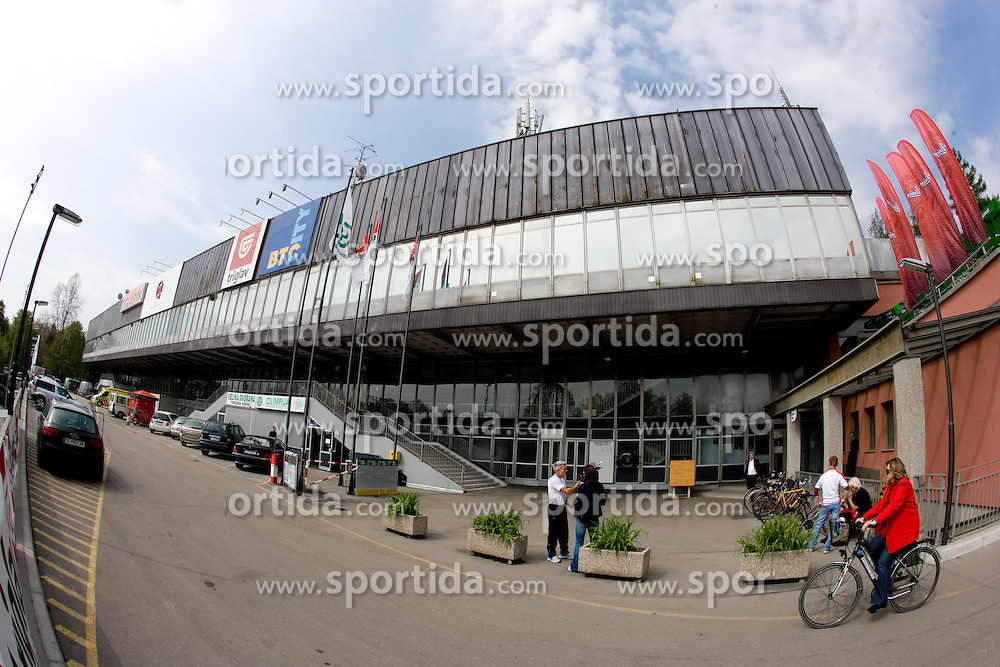 Hall Tivoli during the IIHF World Championship Division 1 Group B tournament, on April 21, 2010, in Hala Tivoli, Ljubljana, Slovenia.  (Photo by Vid Ponikvar / Sportida)