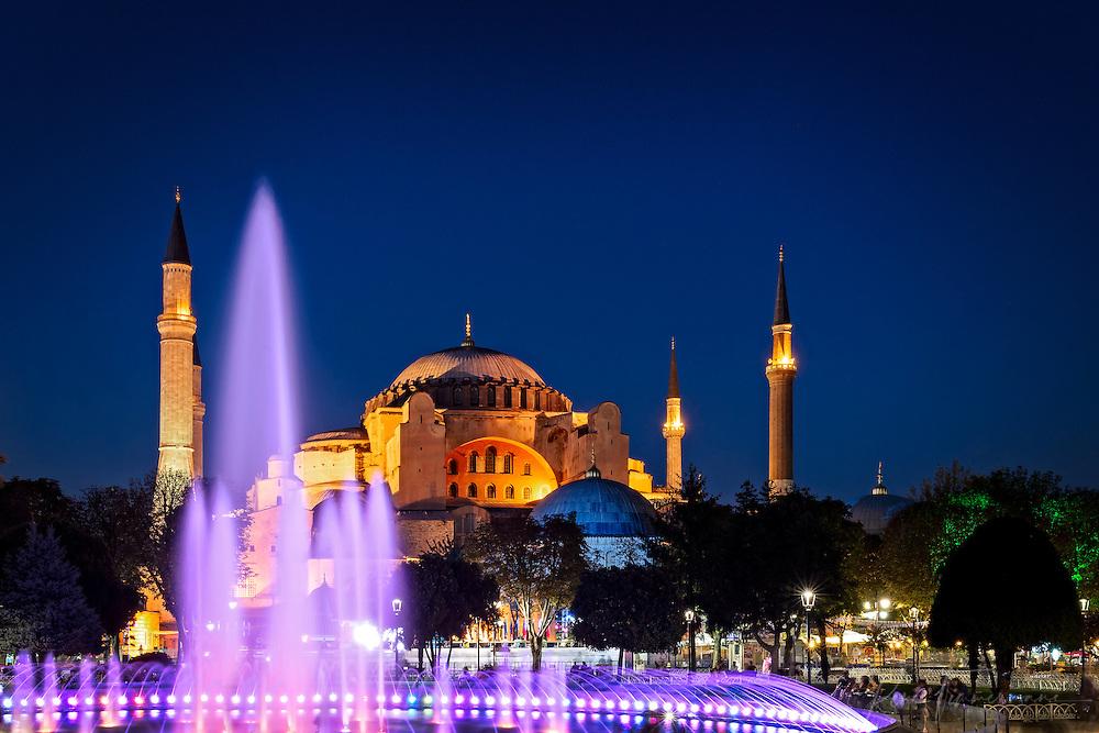 Hagia Sophia at sunset
