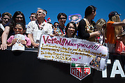 May 23, 2014: Monaco Grand Prix: fans of Sebastian Vettel (GER), Red Bull-Renault