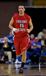 February 27, 2010; San Jose, CA, USA;  Fresno State Bulldogs forward Nedeljko Golubovic (15) during the second half against the San Jose State Spartans at The Event Center.  San Jose State defeated Fresno State 72-45.