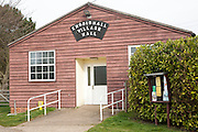 Wooden construction building of small village hall, Knodishall, Suffolk, England