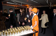 Sting, Fundraising party with airline theme in aid of the Old Vic and to celebrate the appointment of Kevin Spacey as artistic director.  <br />Old Billinsgate Market.  5 February 2003. © Copyright Photograph by Dafydd Jones 66 Stockwell Park Rd. London SW9 0DA Tel 020 7733 0108 www.dafjones.com