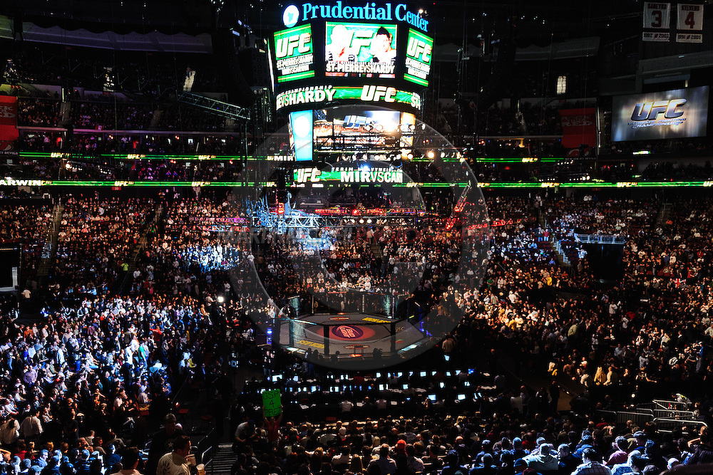 "NEWARK, NEW JERSEY, MARCH 27, 2010: A view of the arena during ""UFC 111: St. Pierre vs. Hardy"" in the Prudential Center, New Jersey on March 27, 2010"