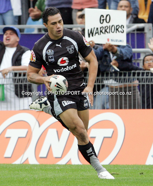 Warriors try scorer Sonny Fai. NRL Rugby League, Vodafone Warriors v Bulldogs, Mt Smart Stadium, Auckland, New Zealand, Sunday 13 April 2008. Photo: Renee McKay/PHOTOSPORT